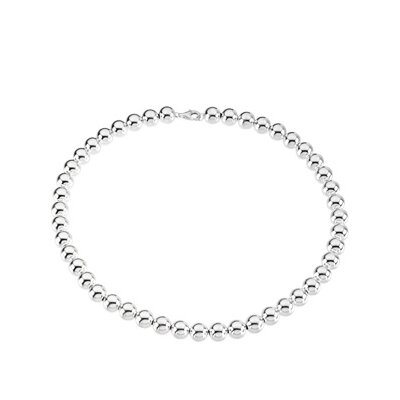 Jewelryweb Sterling Silver 1mm Bead Necklace
