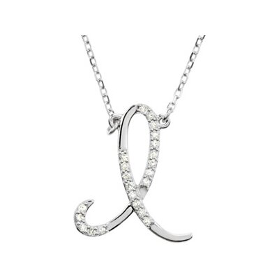 Jewelryweb Sterling Silver Diamond Necklace I 1/8ct