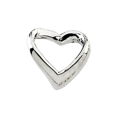 Jewelryweb Platinum Heart Shaped Pendant