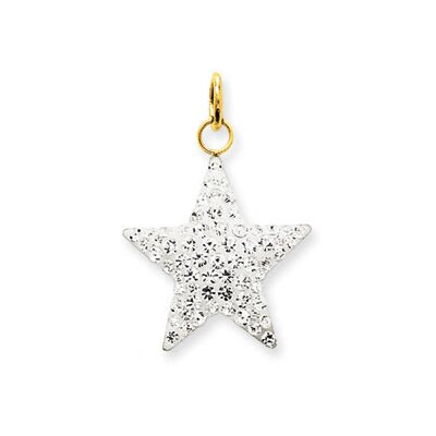 14k CZ Star Necklace - Measures 23x20mm
