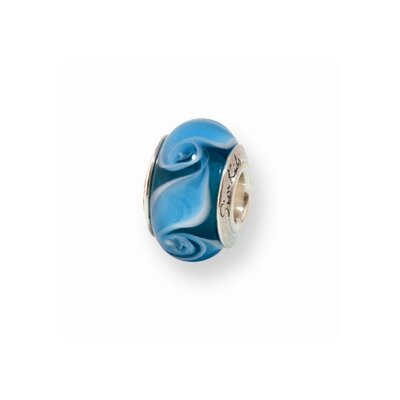 Jewelryweb Sterling Silver Reflections Kids Murano Glass Bead Charm