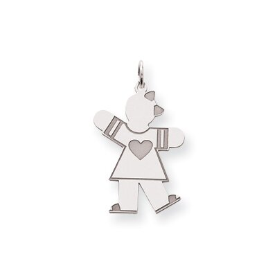 Jewelryweb Sterling Silver Kid Charm