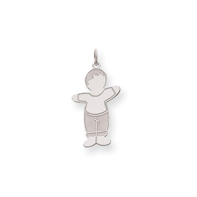 Jewelryweb Sterling Silver Mommas Boy Cuddle Charm