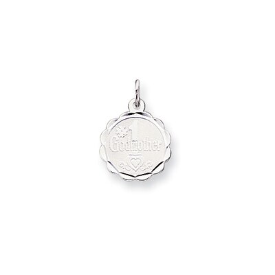 Sterling Silver Number 1 Godmother Disc Charm