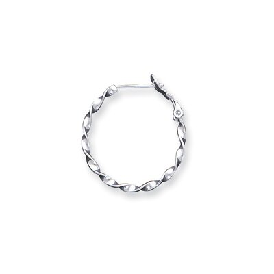 Jewelryweb Sterling Silver Twisted Hoop Earrings