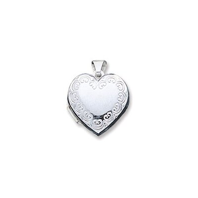 Jewelryweb Sterling Silver Heart Locket