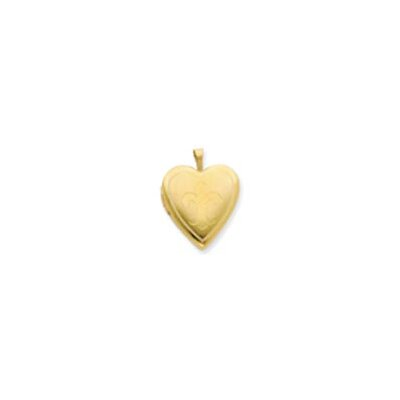 1/20 Gold Filled 20mm Fleur de lis Heart Locket