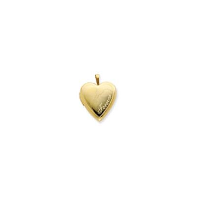 Jewelryweb 1/20 Gold Filled 20mm Man and Woman Forever Heart Locket