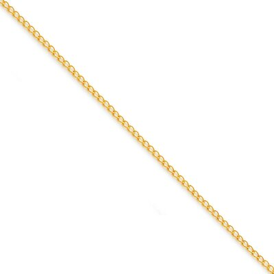 Sterling Silver Gold-plated Curb Chain Necklace