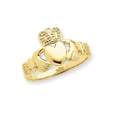 14k Mens Claddagh Ring