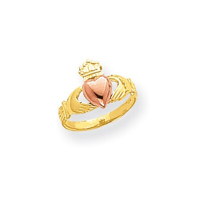 14k Two-tone Baby Claddagh Ring
