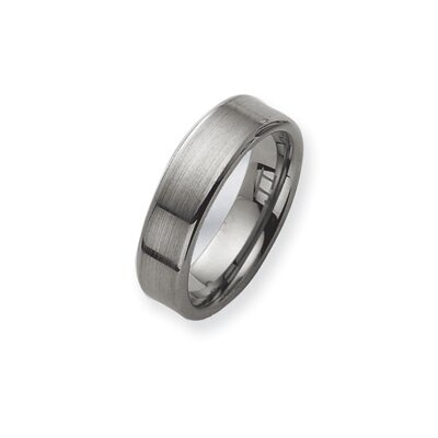 Tungsten Brushed Wedding Band Ring
