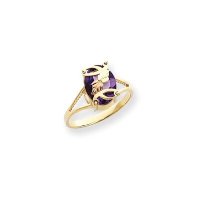 10k Tri-color Black Hills Gold Ladies Amethyst Ring