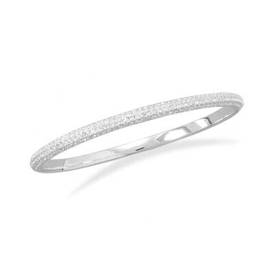 Domed Crystal Bangle Bracelet