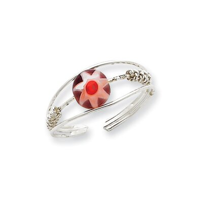 Sterling Silver Bead Toe Ring
