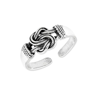 Sterling Silver Love Knot Solid Toe Ring