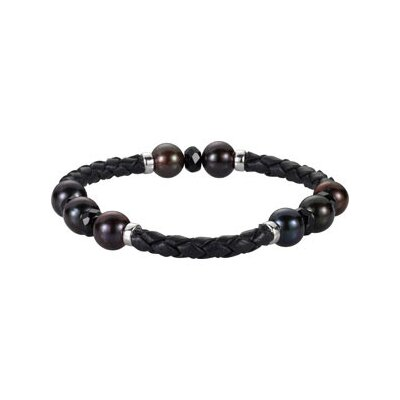 Pearl and Onyx Cord Bracelet