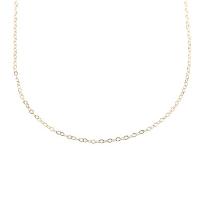 14/20 Gold Filled Cable Chain Necklace .5mm Wide With Spring Ring Closure