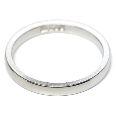 <strong>Jewelryweb</strong> Sterling Silver 2mm Half-Round Band Ring