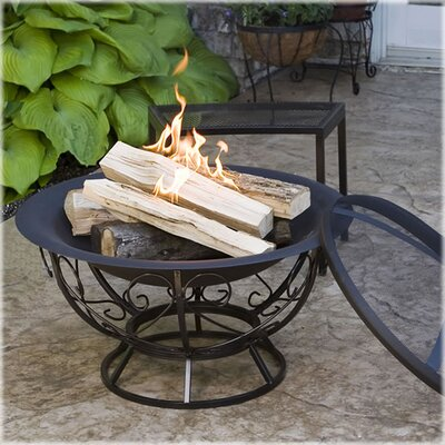 Fire Pit with Scroll Base