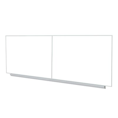 "Ghent 48.5"" x 193.25"" Aluminum Frame Premium Porcelain Magnetic Whiteboard (2 pcs with joiner) - 4 Markers and Eraser"