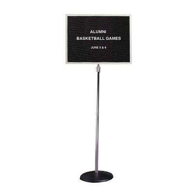 Ghent Pedestal Open Face Changeable Black Letterboard