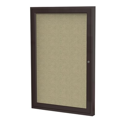 Ghent 1-Door Wood Frame Enclosed Fabric Tackboard