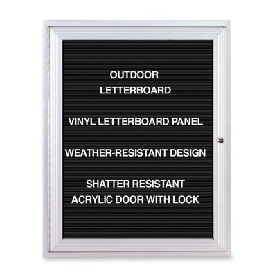 Ghent Outdoor Enclosed Letterboards,1-Door,3'x2',Aluminum Frame
