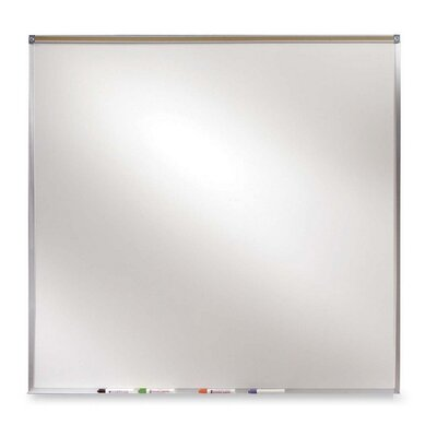 Ghent Projection Board, Dry-Erase Brd, 4'x4', Aluminum Frame/White