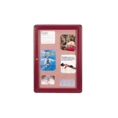 Ghent Ovation Radius Fabric Tackboard with Hinged Door