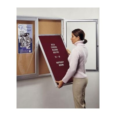 Ghent Unframed Letterboard Insert Panel - Black (for Wood Frame Unit)