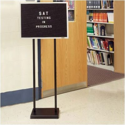 Ghent Double Pedestal Open Face Changeable Message Center
