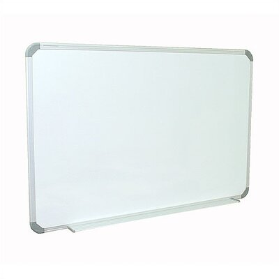 Ghent Aluminum Radial Edge Euro-Style Magnetic Whiteboard with 1 Marker and Eraser