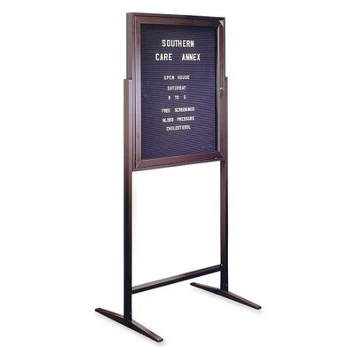 "Ghent Standing Message Center,w/Gothic Letters, 68""Tall, 3'x2', Black"