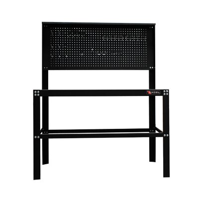 Excel Hardware 48 in. Steel Work Bench with Built in Pegboard