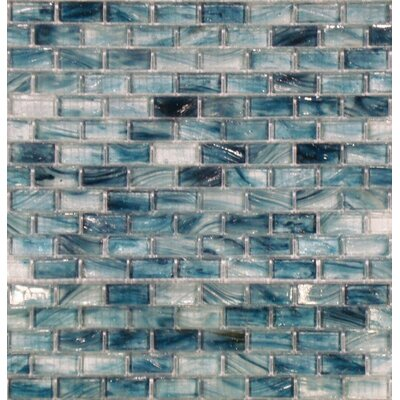 "MS International 2"" x 1"" Crystallized Glass Mosaic in Blue"