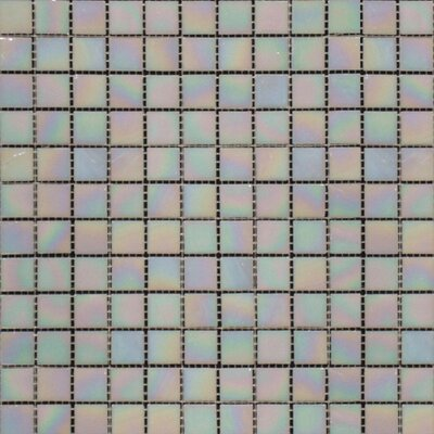 "MS International 12"" x 12"" Iridescent Glass Mosaic in Mediterranean Pearl"