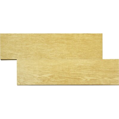 "MS International Wood Stone 24"" x 6"" Glazed Porcelain Tile in Cedar"