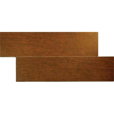 """MS International Wood Stone 24"""" x 6"""" Glazed Porcelain Tile in Oak"""