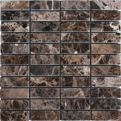 "MS International 12"" x 12"" Polished Marble Tile in Emperador"