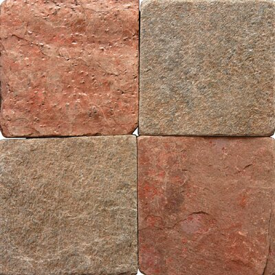 MS International Tumbled Quartzite Tile in Copper