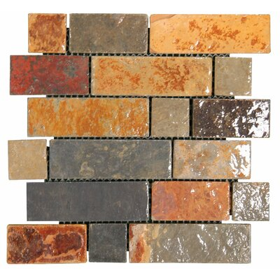 Random Sized Gauged Slate Mosaic in California Gold