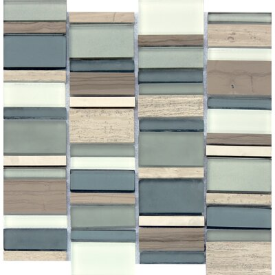 Paradise Bay Random Sized Glass Stone Metal Blend Mesh Mounted Mosaic Tile in Multi