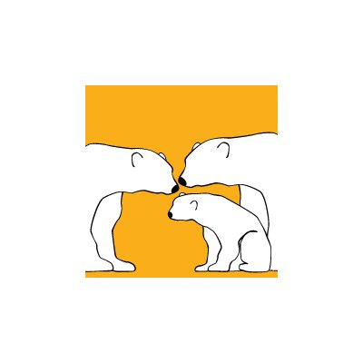 Avalisa Animals Polar Bears Stretched Canvas Art