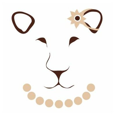 Avalisa Animal Face - Lioness Stretched Wall Art
