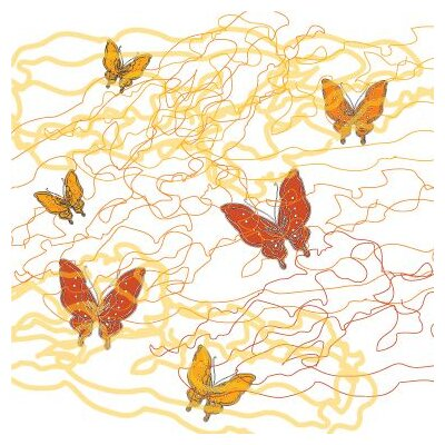 Avalisa Imagination - Butterfly Trails Stretched Wall Art