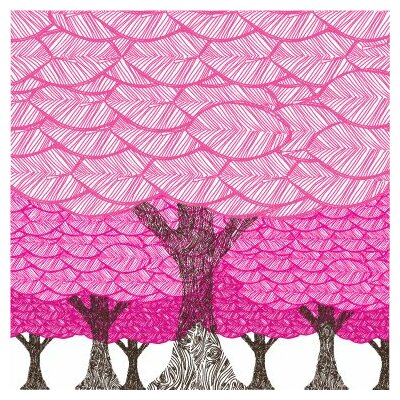 Avalisa Imaginations Forest Stretched Canvas Art