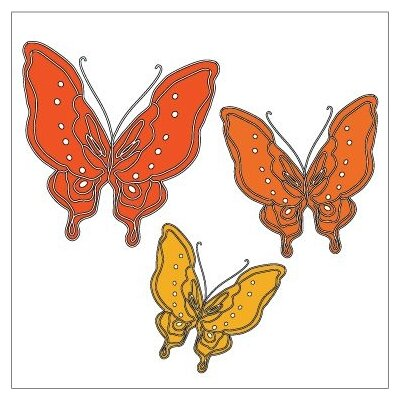 Avalisa Animal - Butterfly Stretched Wall Art
