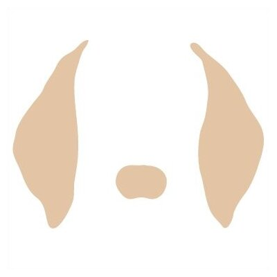 Avalisa Animal Face - Floppy Ears Stretched Wall Art