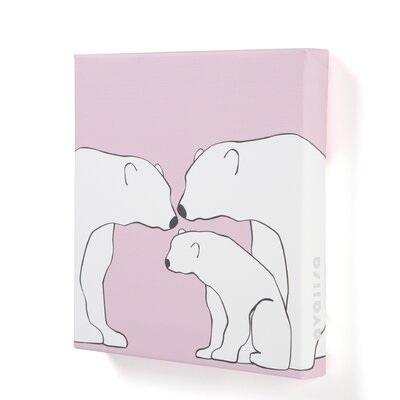 Animals Polar Bears Stretched Canvas Art
